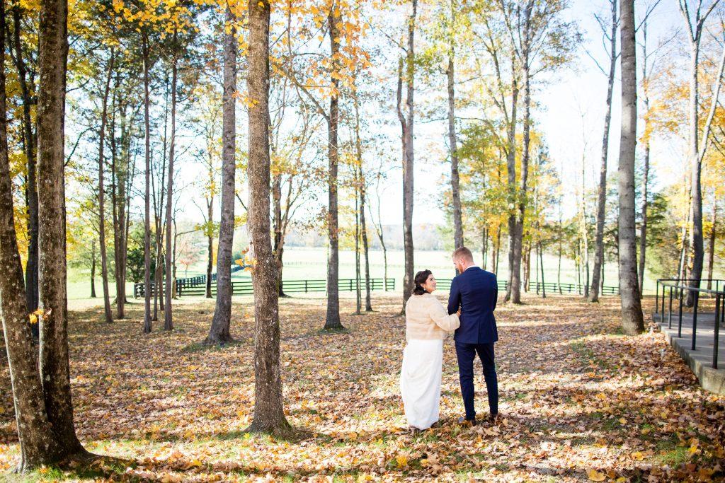LeeHenry Events fall wedding in Arrington, TN