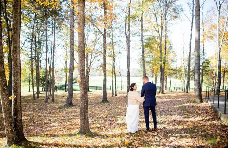 LeeHenry Events fall wedding in Arrington, TN