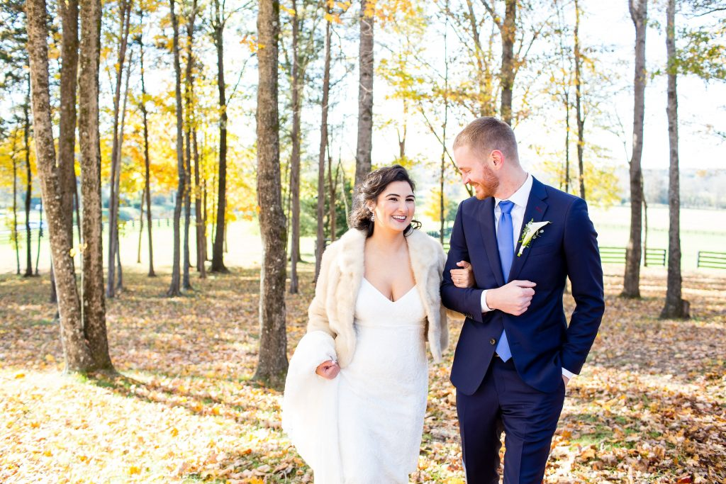 Fall wedding in Arrington TN