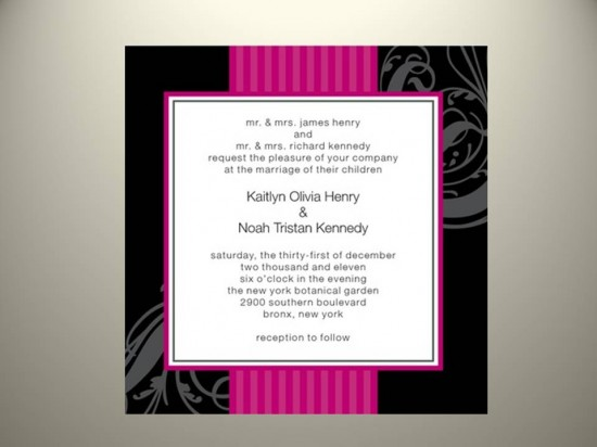Pink & Black Invitation