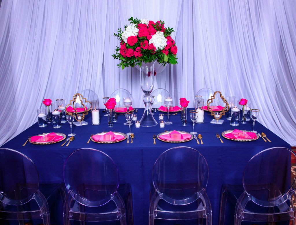 Navy and fushia wedding colors | LeeHenry Events