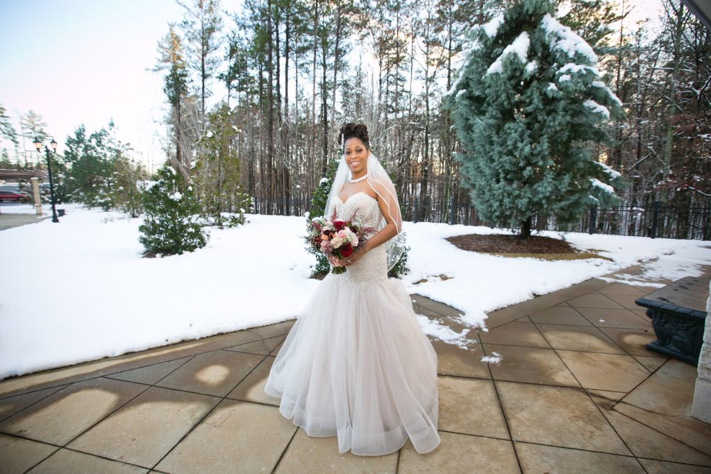 Ashton Gardens Atlanta snowy wedding