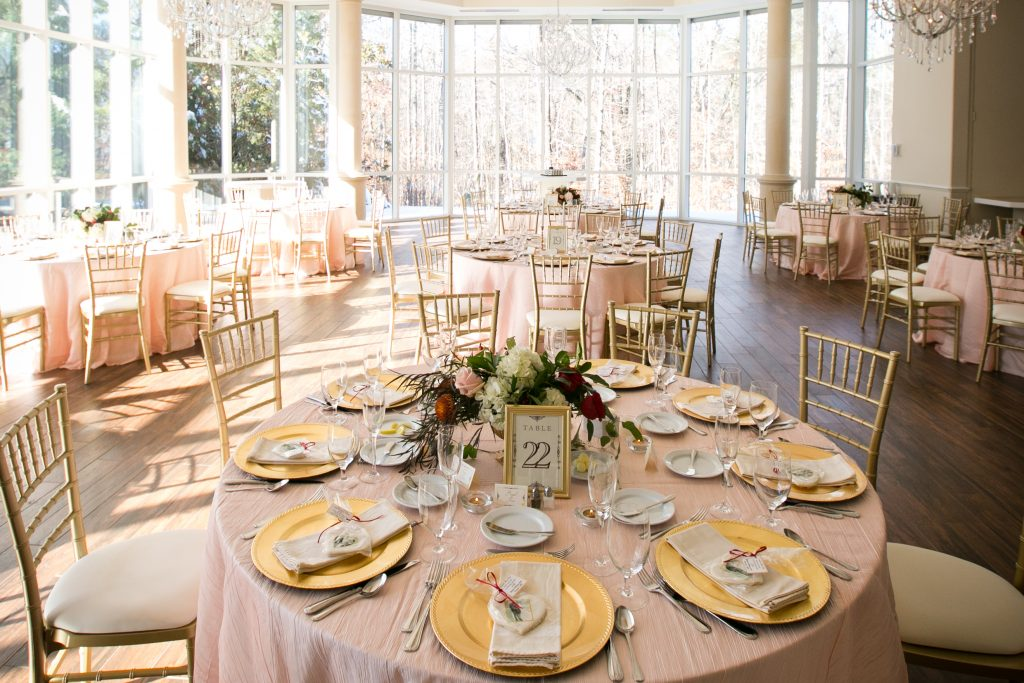 Blush and gold for a wedding