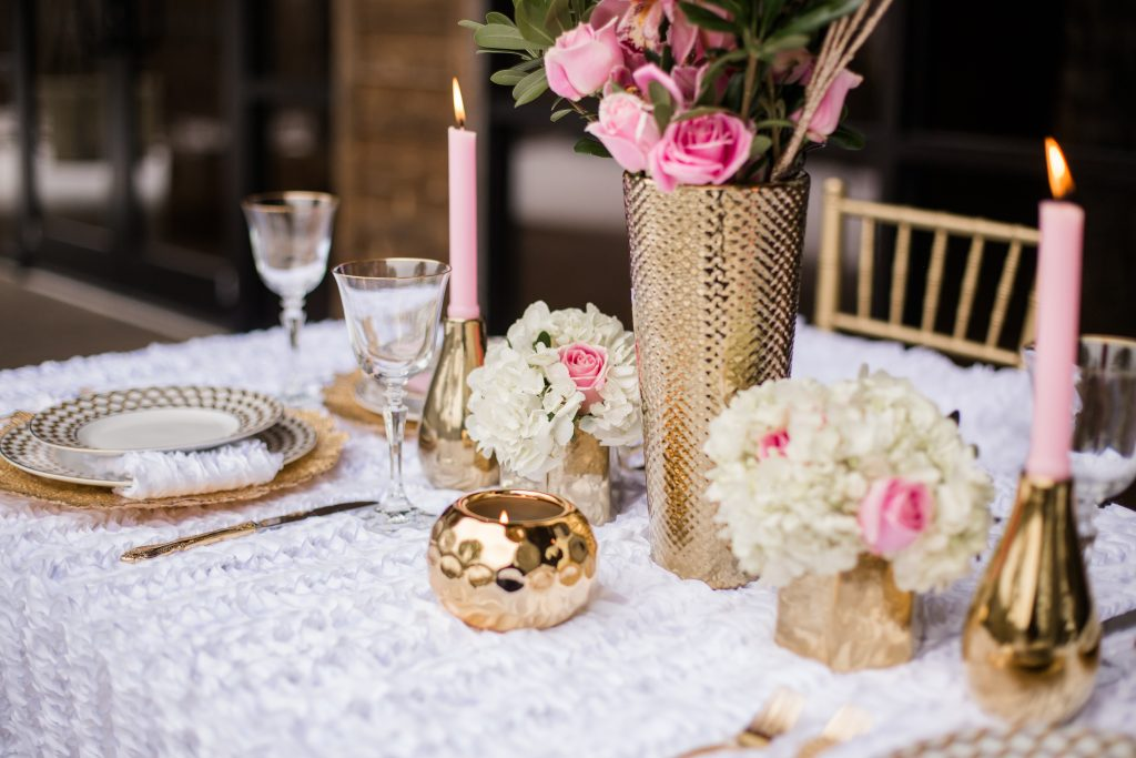 Winter Wedding Gold Table Design