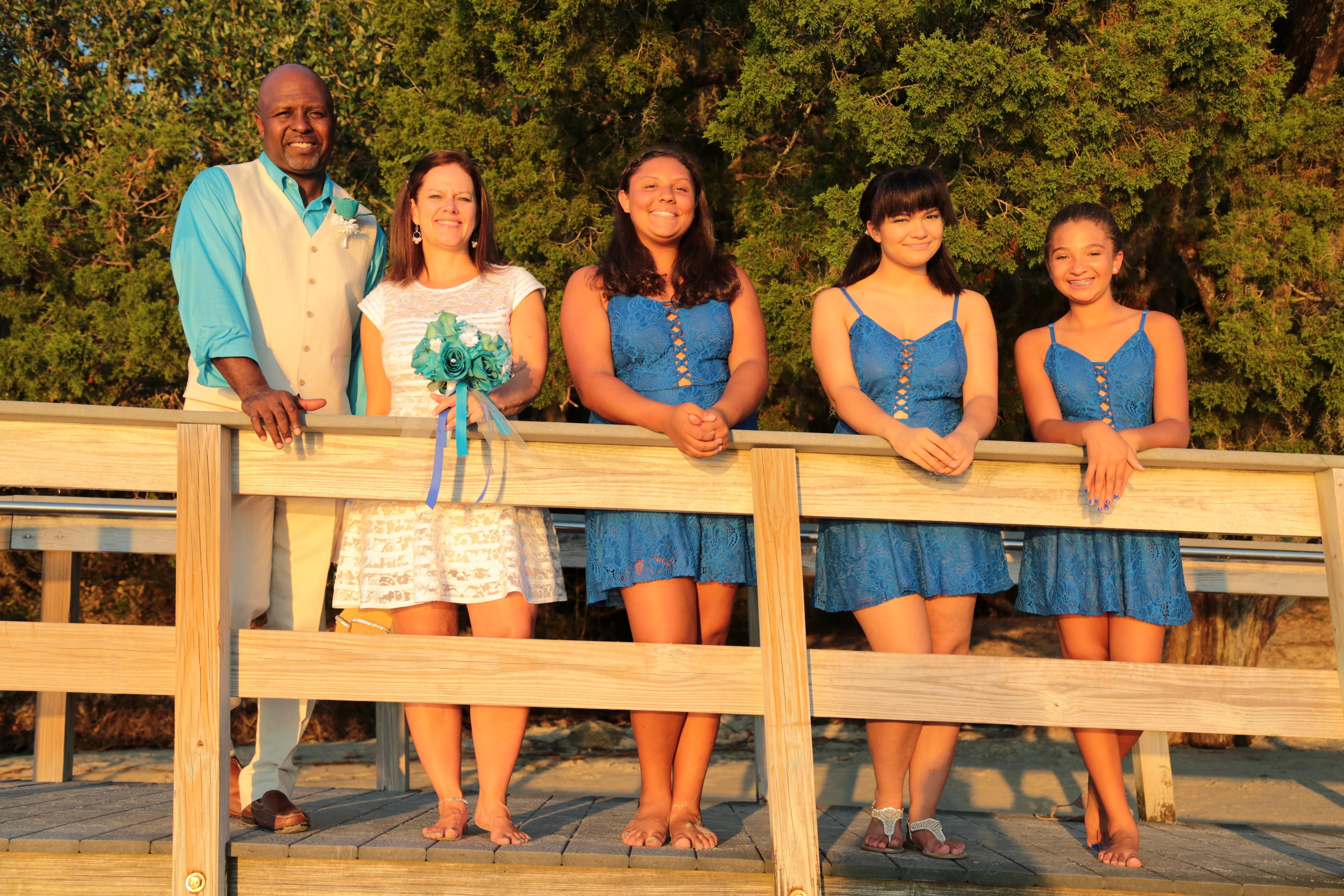 Bridal Party at St Andrews Park Jekyll Island