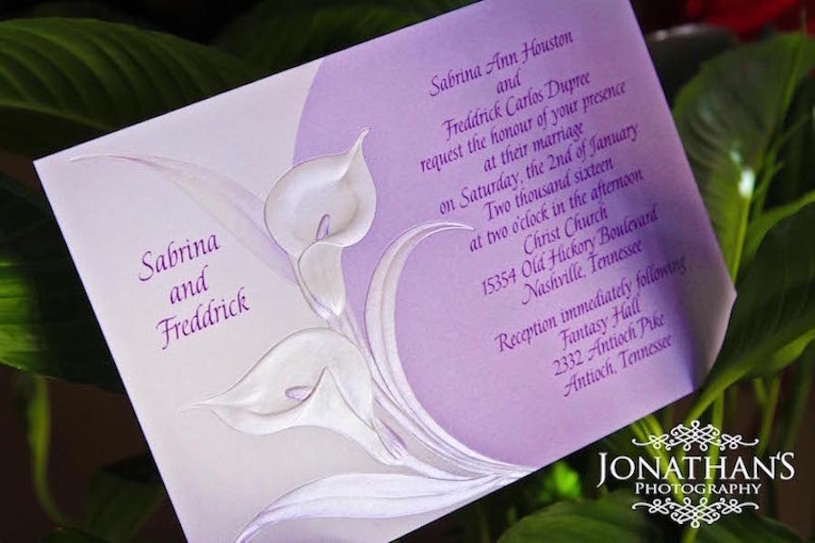 Purple Wedding Invitation   LeeHenry Events