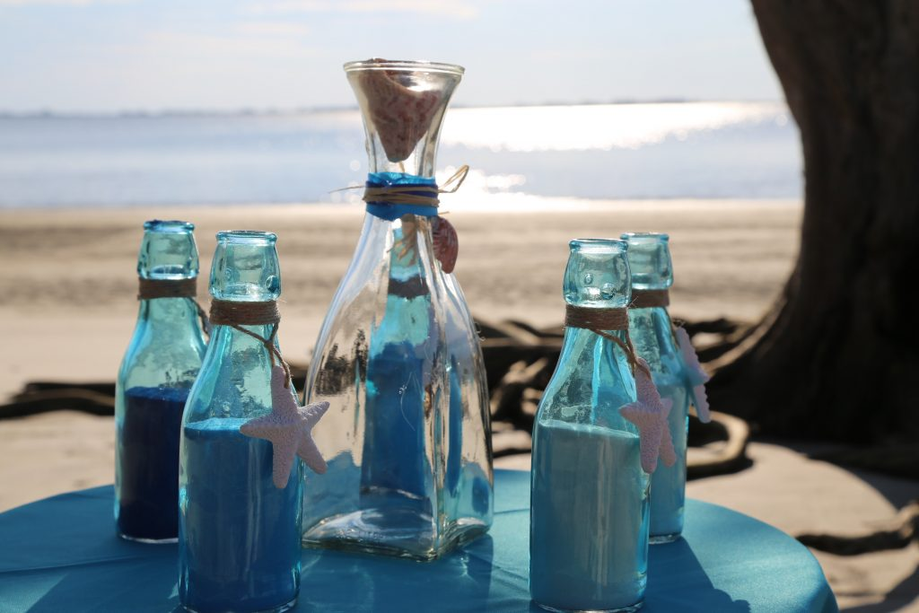 How to set up a sand ceremony.