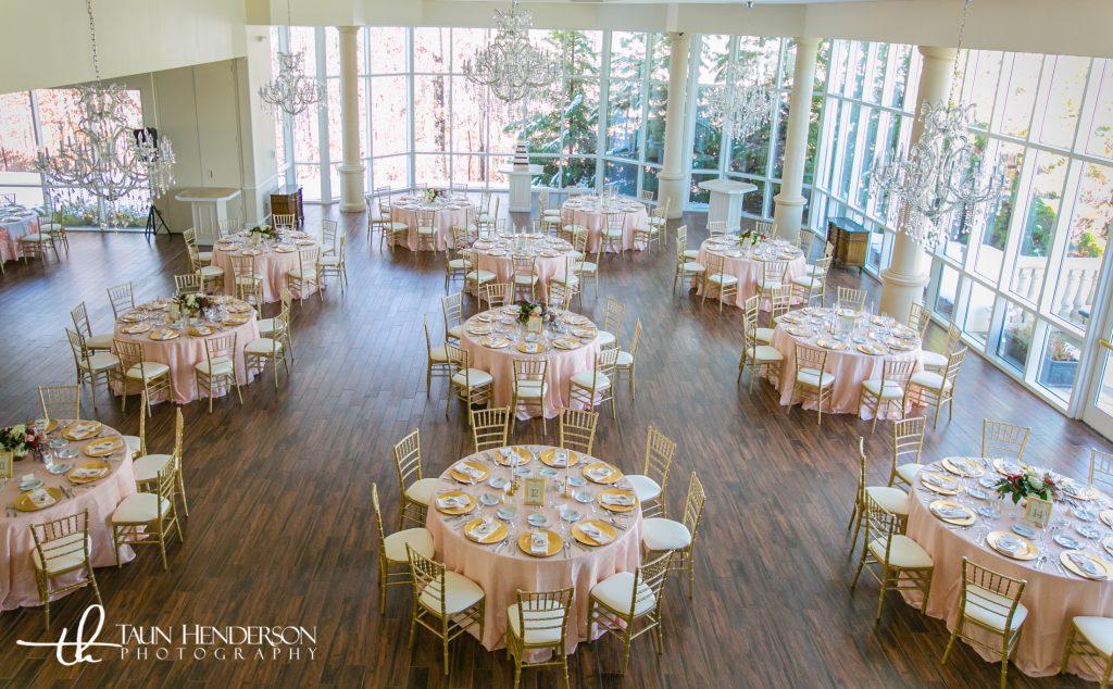 Blush and gold wedding chiavari chairs
