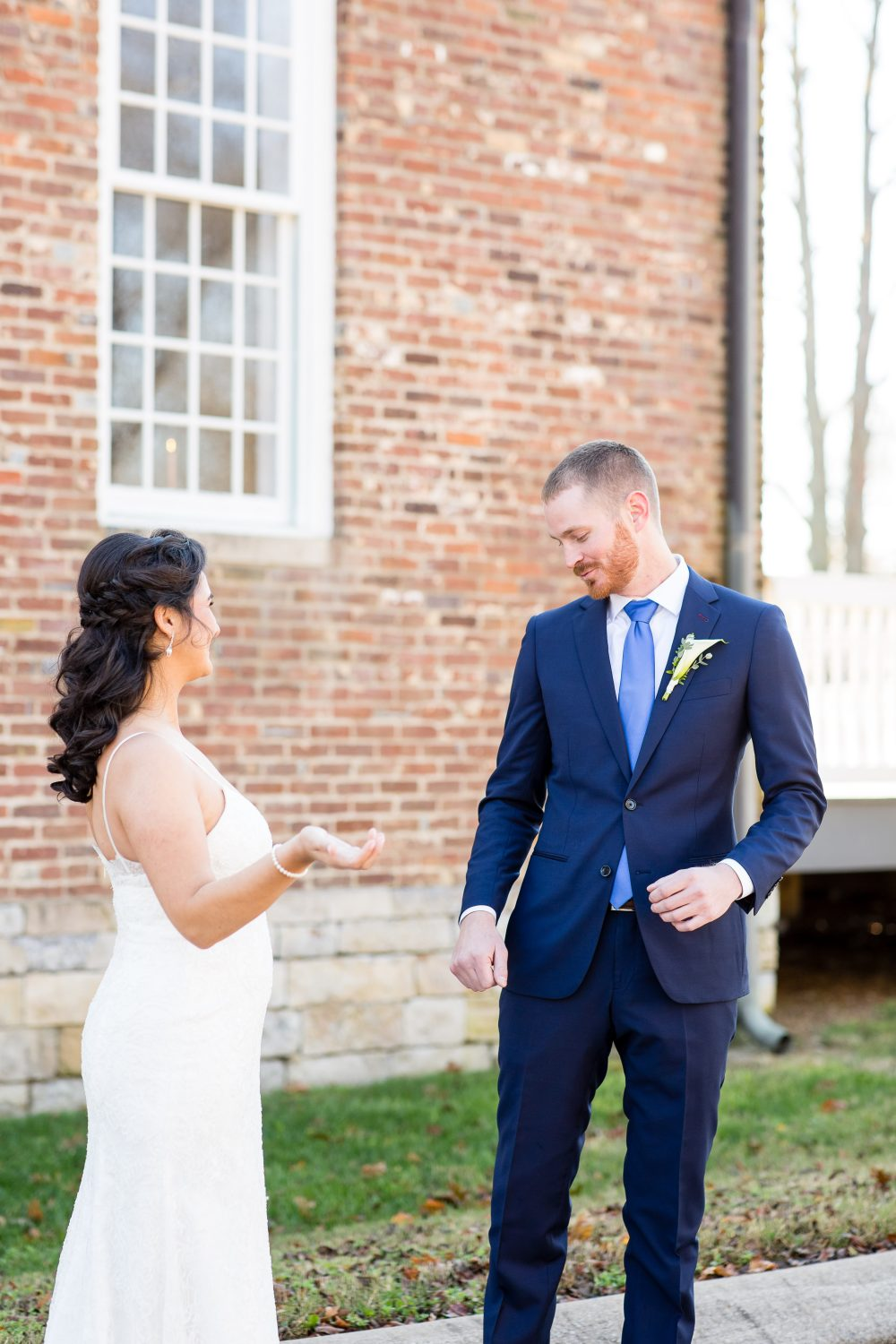 Bride and groom's first look | LeeHenry Events