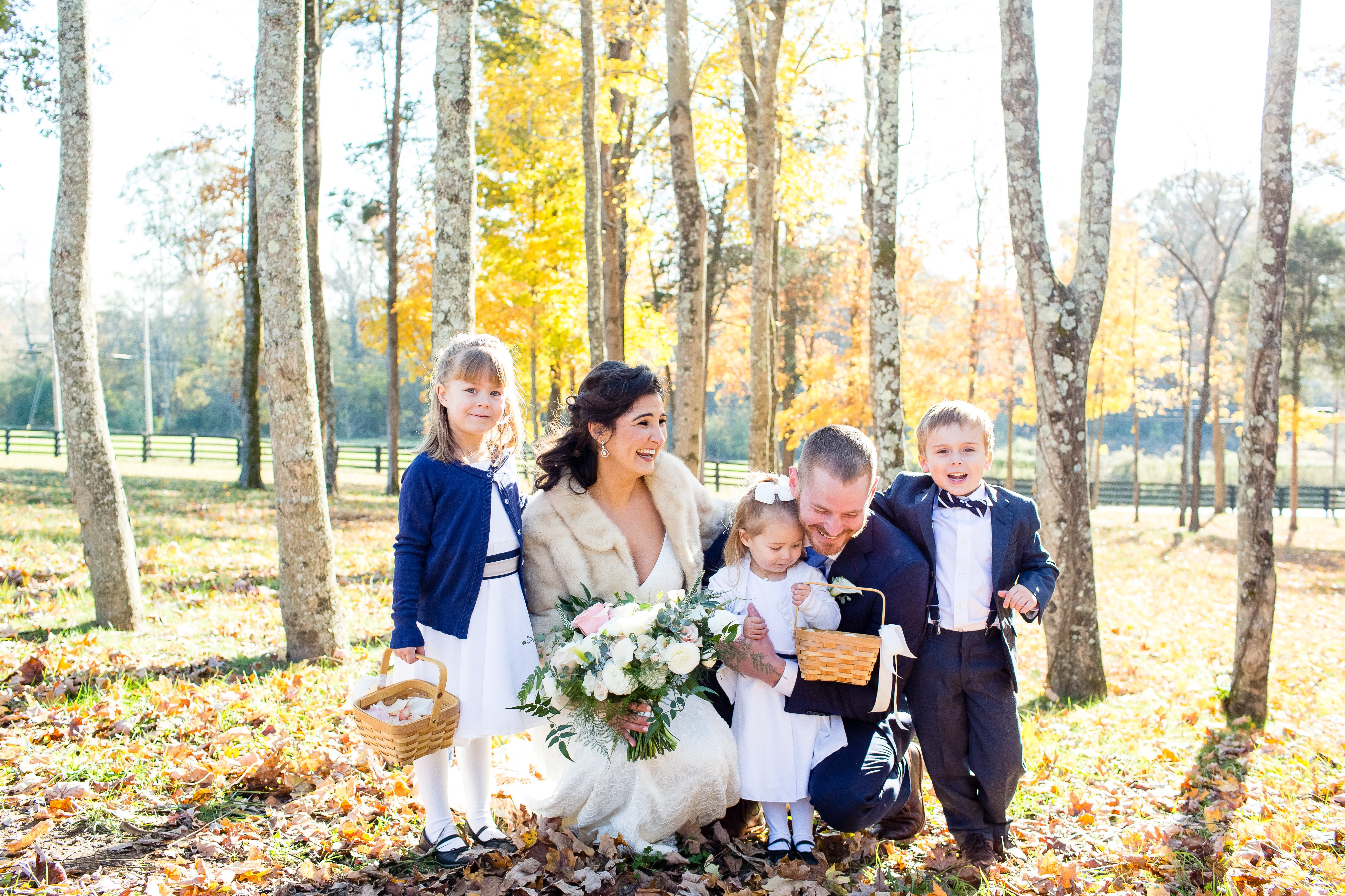 flower girls and ring bearer LeeHenry Events LLC